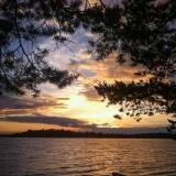 Закат на озере Жижицкое