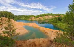 Панорама Дальнего озера (В окрестностях пос. Сычёво).